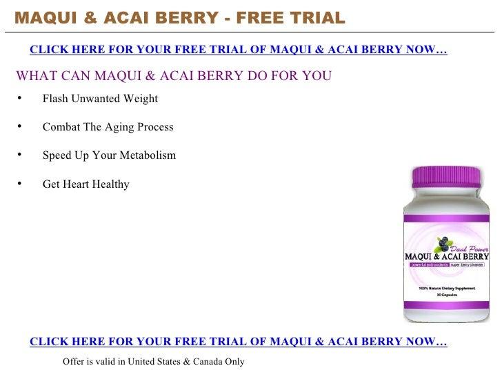 Maqui & Acai Berry - Free Trial
