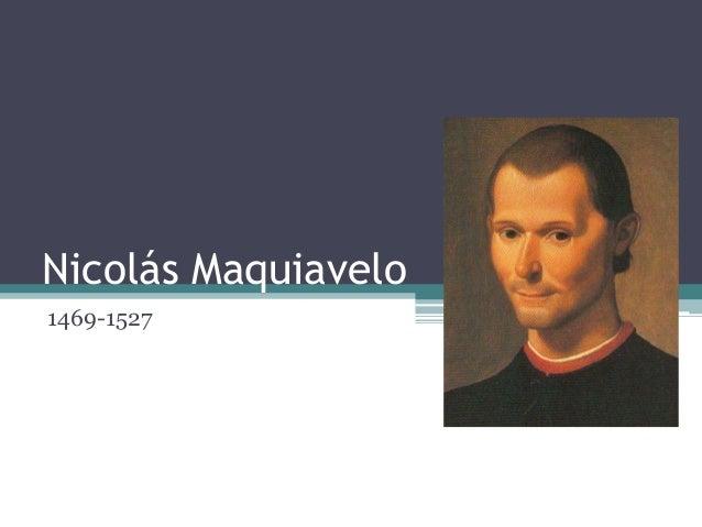 Nicolás Maquiavelo1469-1527