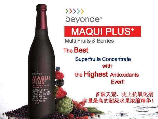 Unilever Network MaquiPlus Maqui SuperBerry Highest Antioxidant Drink Presentation