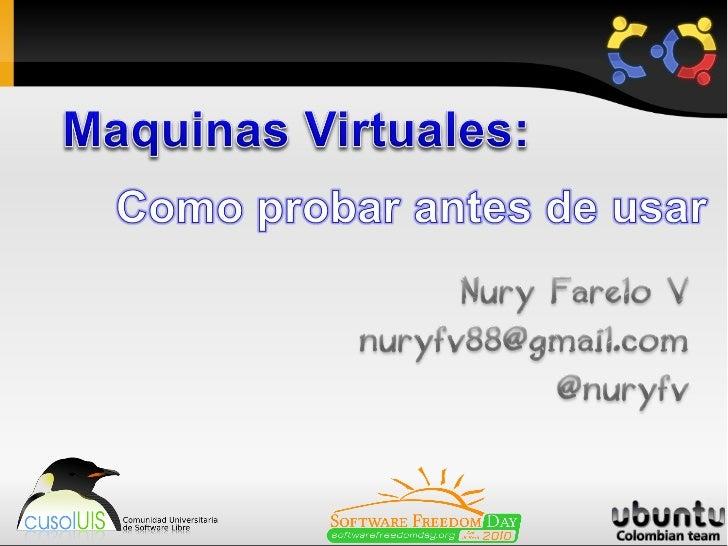 Contenido1. Que es una Maquina Virtual2. Característica Principal3. Tipos de Maquinas Virtuales4. Ejemplos de Maquinas Vir...