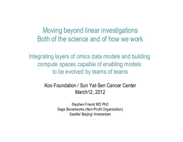 Stephen Friend Koo Foundation / Sun Yat-Sen Cancer Center 2012-03-12