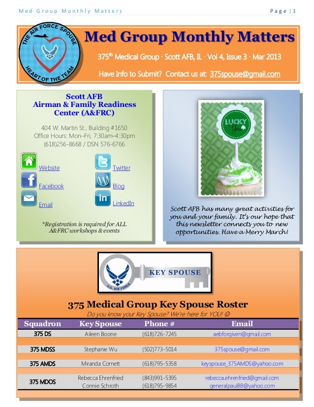 March 2013 Spouse Newsletter