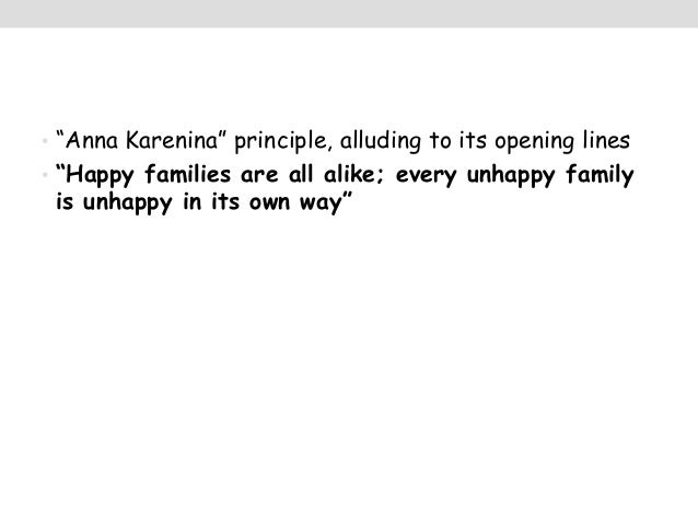 an analysis of happy families are all alike by anna karenina