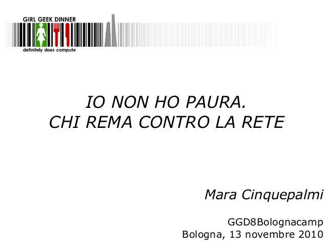 Mara Cinquepalmi @GGD8 Bologna camp