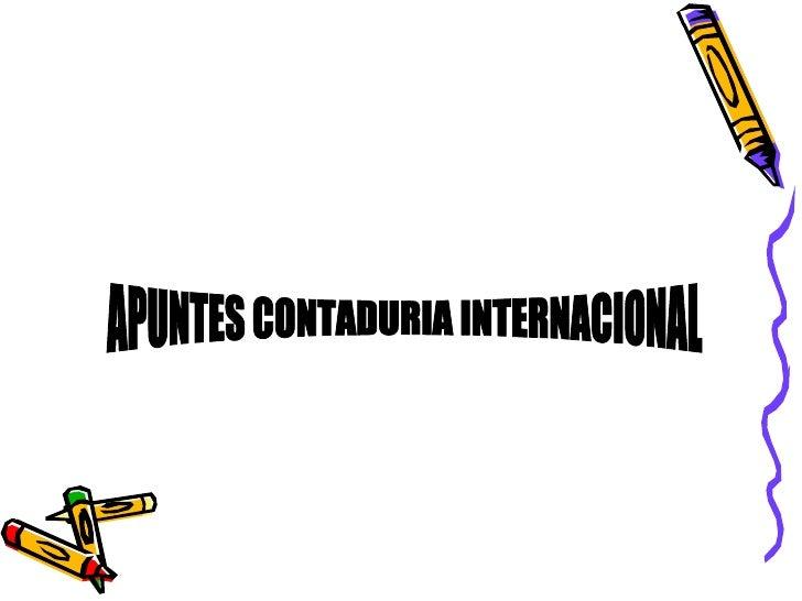 MaríA De Jesus FernáNdez Contabilidad Internacional
