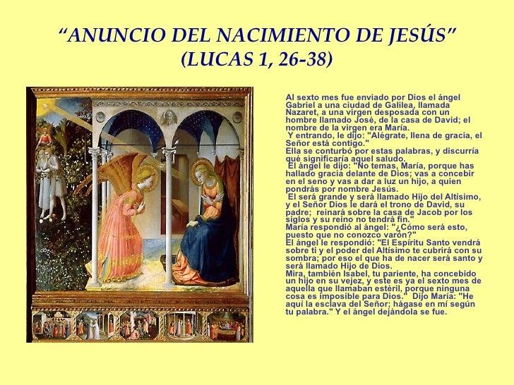 Resultado de imagen para Lucas 1,26-38