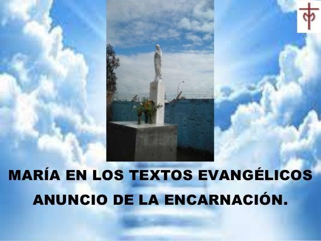 MARÍA EN LOS TEXTOS EVANGÉLICOS ANUNCIO DE LA ENCARNACIÓN.