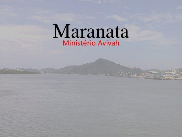 MaranataMinistério Avivah