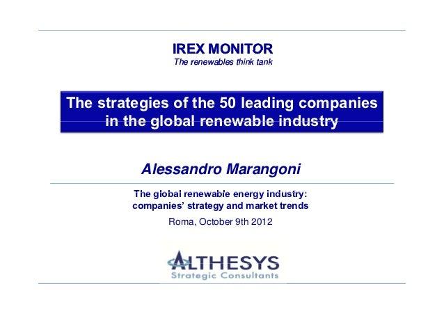 IREX MONITOR The renewables think tank                                         IREX MONITOR                               ...