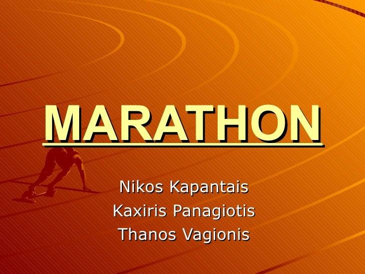 Marathon area