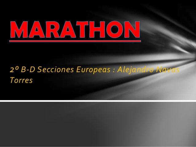 2º B-D Secciones Europeas : Alejandro Navas Torres