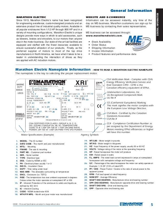 Marathon motors for the long run for Marathon motor cross reference