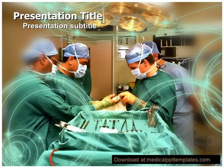 Presentation Title Presentation subtitle Download at:medicalppttemplates.com