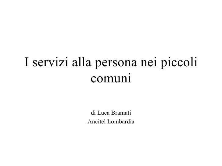 [Maratona Lombardia] Servizi alla persona nei piccoli comuni