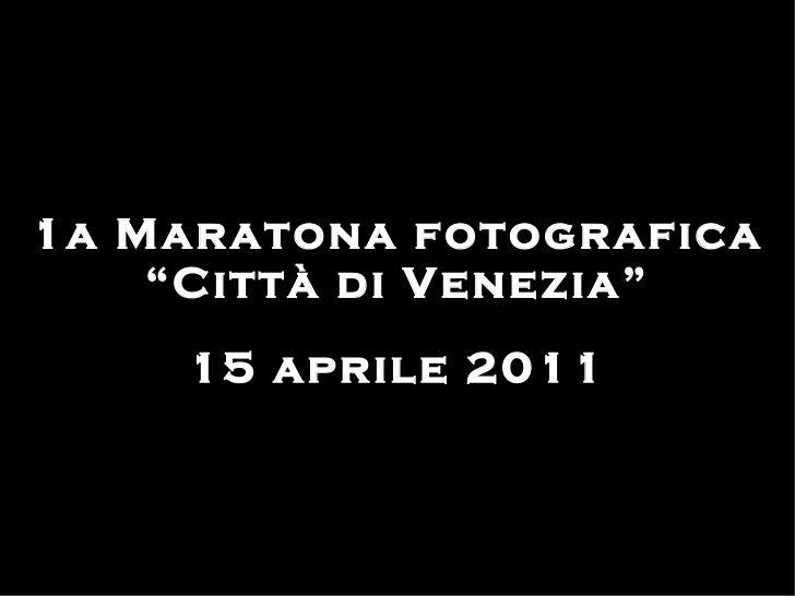Maratona fotografica città di Venezia