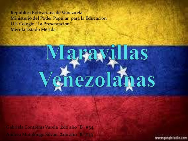 República Bolivariana de Venezuela Ministerio del Poder Popular para la Educación U.E Colegio ¨La Presentación¨ Mérida Est...