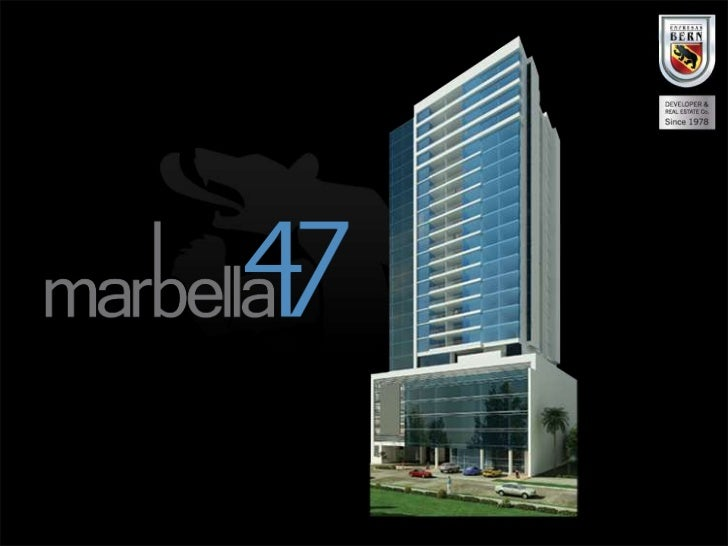 LocationLocated in Marbella 47th Street.An   excellent      area     of   PanamaCity, because of it's proximity to thebank...