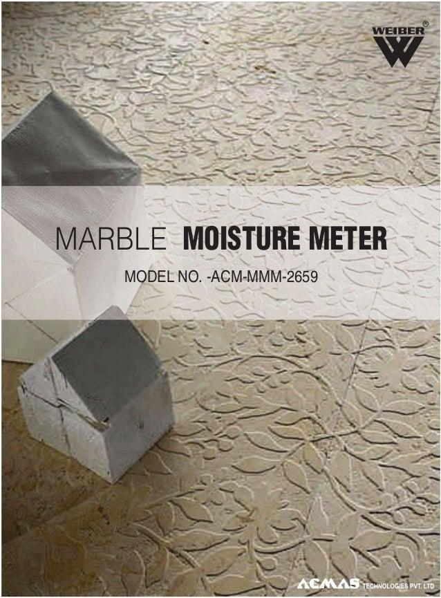 R  MARBLE MOISTURE METER MODEL NO. -ACM-MMM-2659