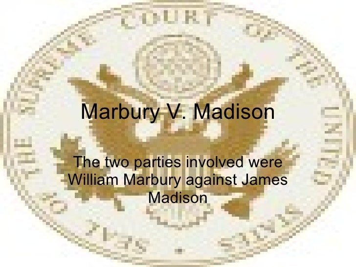 marbury v madison Equal justice under law marbury v madison (1st in a 4 part series) dramatizations of historic decisions from the courtroom of america's great chief justice, john marshall.