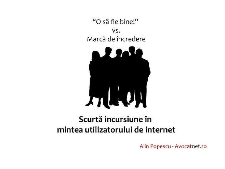 Marca De Incredere.Impact Asupra Utilizatorilor Alin Popescu