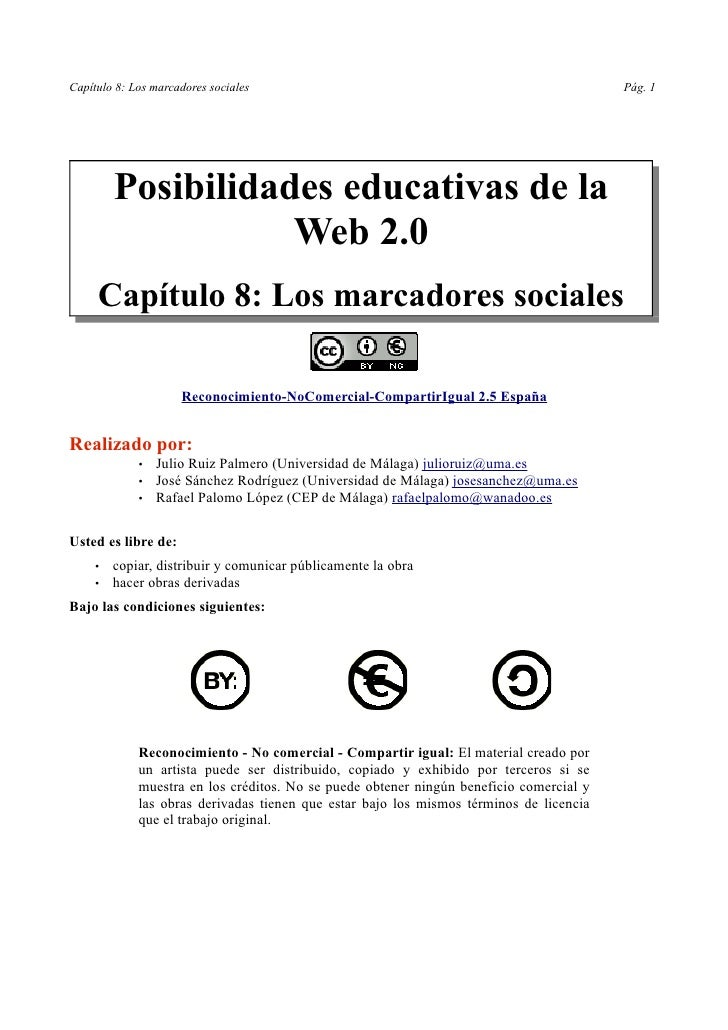 Capítulo 8: Los marcadores sociales                                                      Pág. 1              Posibilidades...