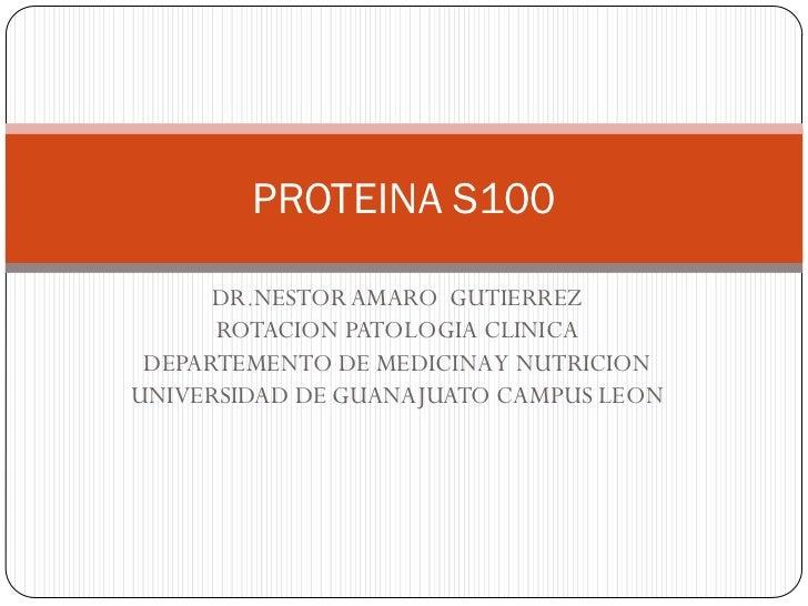 Marcador proteina s 100