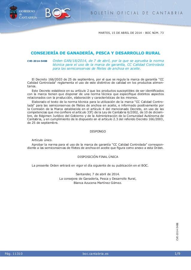 GOBIERNO de CANTABRIA B O L E T Í N O F I C I A L D E C A N T A B R I A i boc.cantabria.esPág. 11310 MARTES, 15 DE ABRIL D...