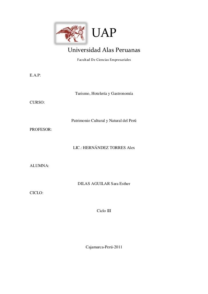 828040-16129000UAP<br />Universidad Alas Peruanas<br />Facultad De Ciencias Empresariales<br />E.A.P: <br />Turismo, Hotel...