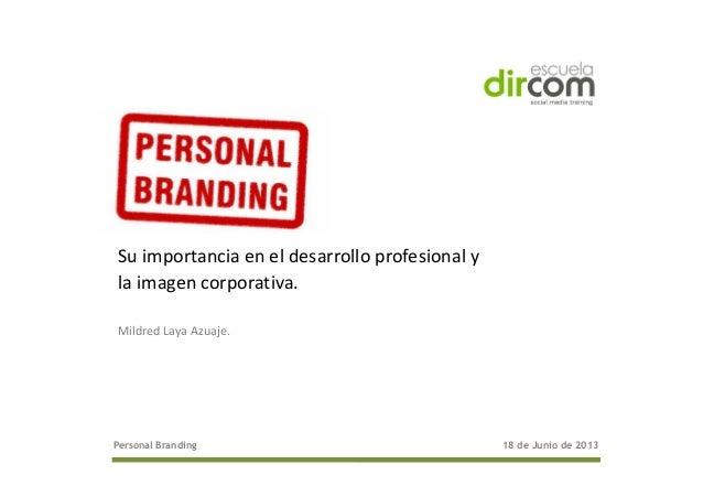 Marca personal dircom 18 de junio 2013 [modo de compatibilidad]