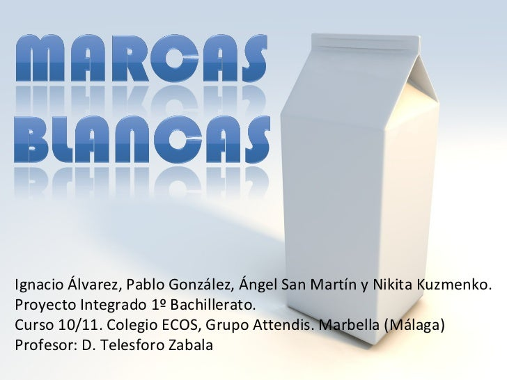Ignacio Álvarez, Pablo González, Ángel San Martín y Nikita Kuzmenko. Proyecto Integrado 1º Bachillerato.  Curso 10/11. Col...