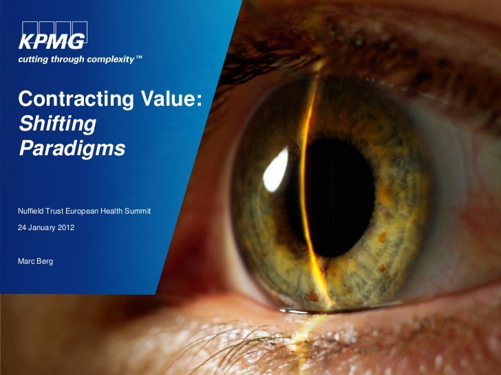Marc Berg: Contracting value: shifting paradigms