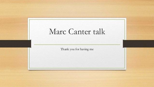 Marc Canter talk
