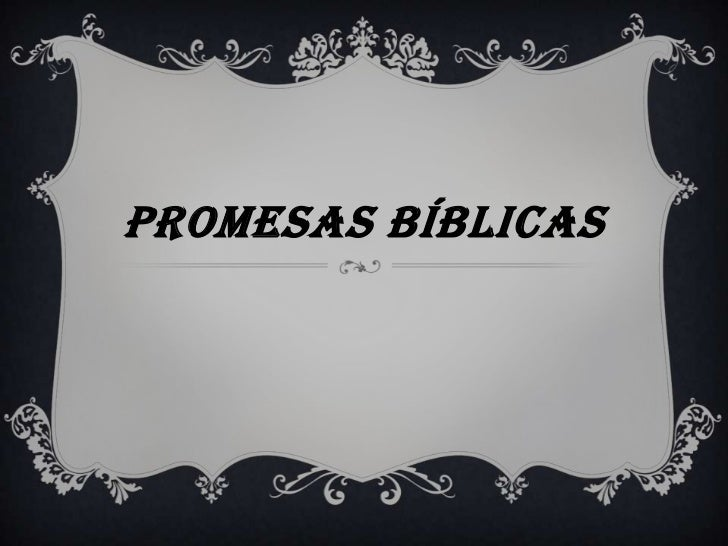 Promesas bíblicas<br />
