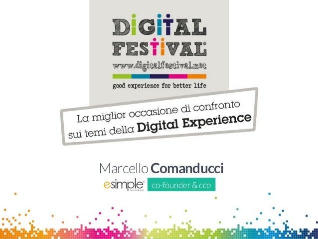 Marcello Comanducci - Social, analytics, app ed advergame: come conoscere i propri clienti ed acquisire un vantaggio competitivo sostenibile - Digital for Business