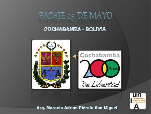 La ciudad de Cochabamba, es la capital del departamento de Cochabamba y de la provincia Cercado siendo en la actualidad la...