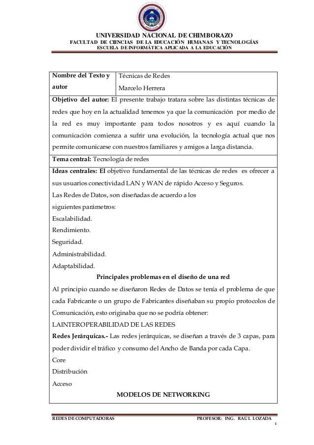 UNIVERSIDAD NACIONAL DE CHIMBORAZO FACULTAD DE CIENCIAS DE LA EDUCACIÓN HUMANAS Y TECNOLOGÍAS ESCUELA DE INFORMÁTICA APLIC...