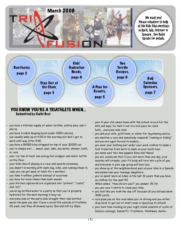 TriFusion Newsletter - Mar.'08