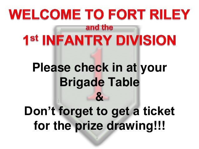 Ft. Riley   Victory Welcome/Network March  slides