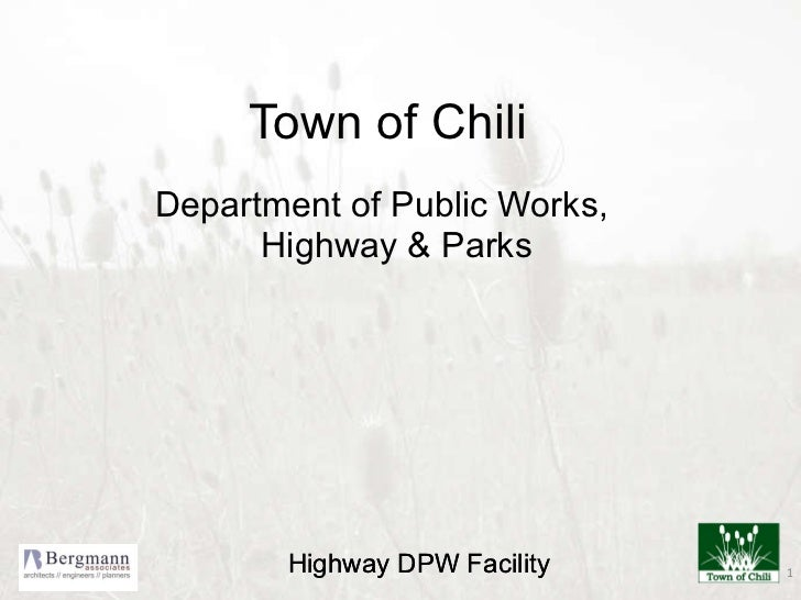 Town of Chili Department of Public Works, Highway & Parks