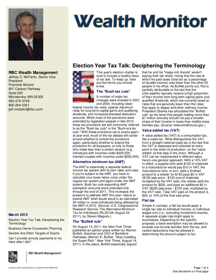 Election Year Tax Talk: Deciphering the TerminologyRBC Wealth Management                                      This years e...