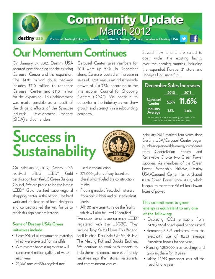 March 2012 Community Update