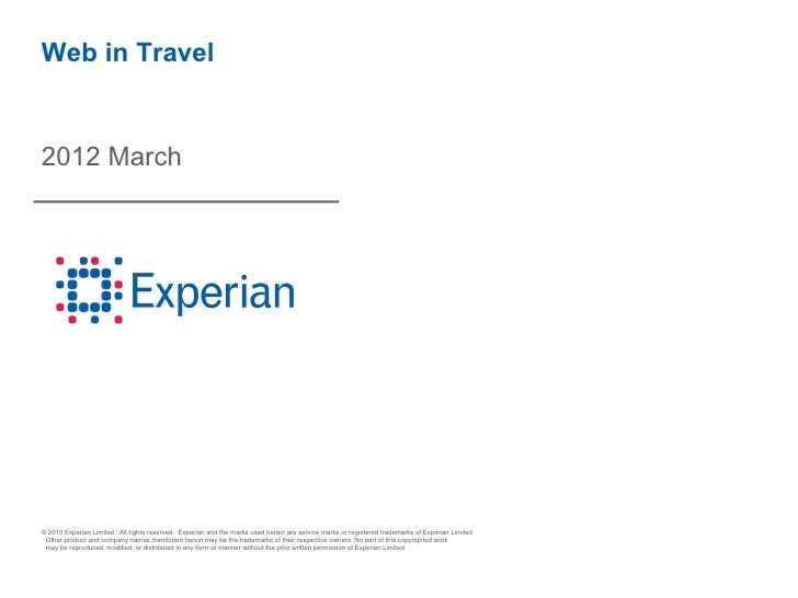 Experian Hitwise Travel Data - March 2012