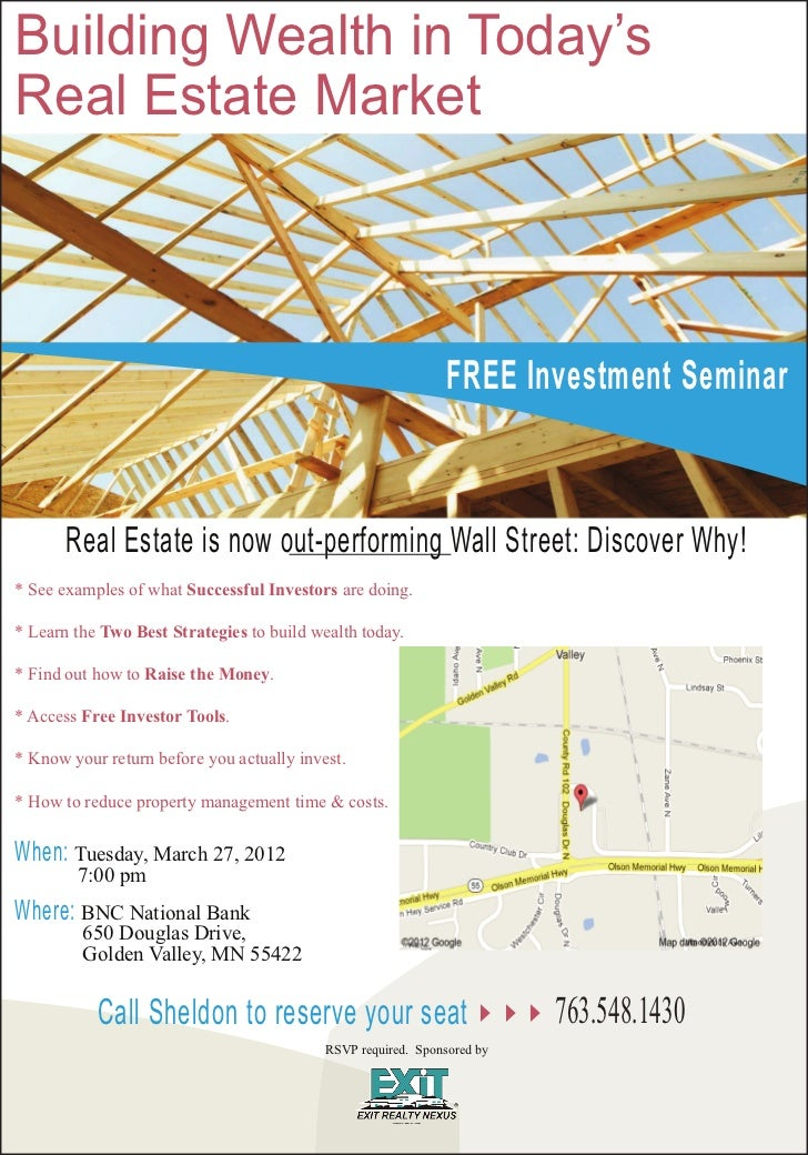 Building Wealth in Today'sReal Estate Market                                                               FREE Investment...