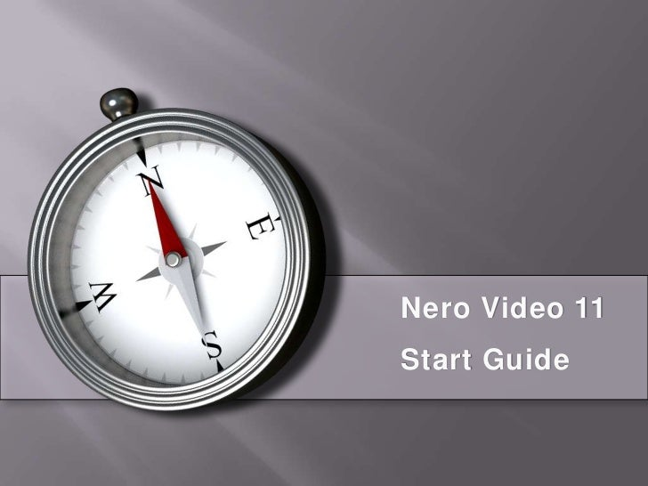 Nero Video 11 Start Guide