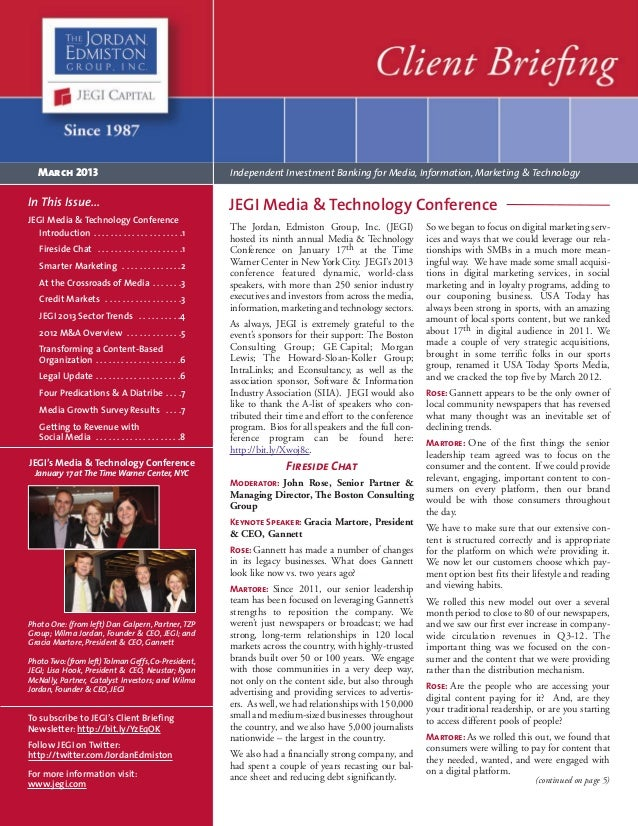 March 2013 Client Briefing