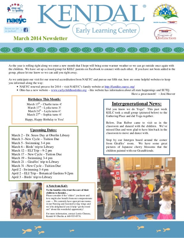 March 2014 newsletter format