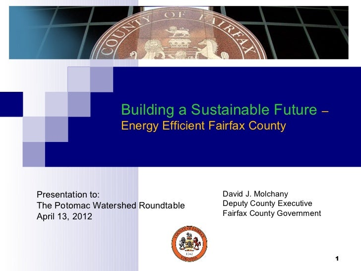 Building a Sustainable Future- Energy Efficient Fairfax County