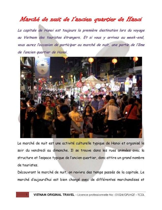 Marché de nuit de l'ancien quartier de Hanoi La capitale de Hanoi est toujours la première destination lors du voyage au V...