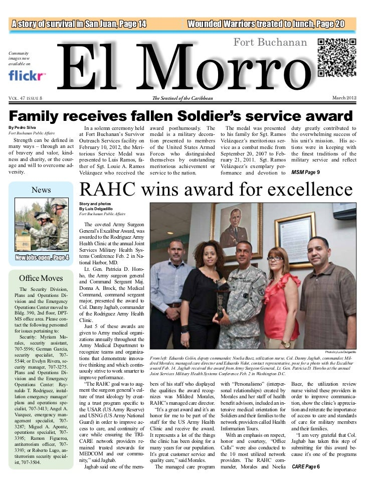 El Morro  A story of survival in San Juan, Page 14                                                  Wounded Warriors treat...