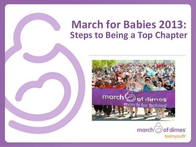 March for Babies FBLA-PBL Webinar
